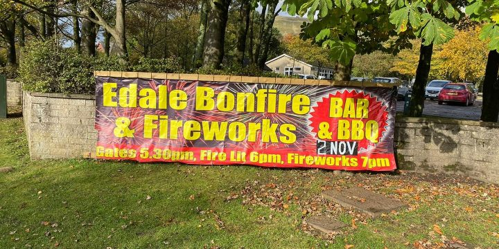 Edale Bonfire and Fireworks 2019